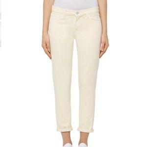 NEW J Brand sadey slim straight crop jeans butter